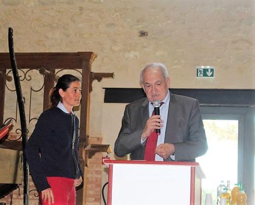 Monsieur Denis Verdier  –  Vice Président du Crédit Agricole du Languedoc, rappelant l'engagement   de  la Caisse Régionale, aux côtés de la Fondation Crédit agricole Pays de France,  dans les actions de mécénat qui contribuent à la préservation du patrimoine architectural, culturel, social et économique de son  territoire.