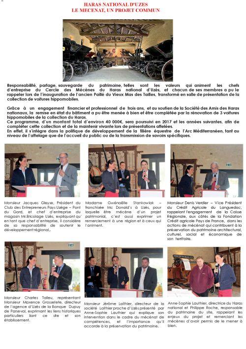 Mécénat-Uzès-Inauguration